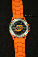Orange/Black Oklahoma State University Logo | Silicone Band with Clasp