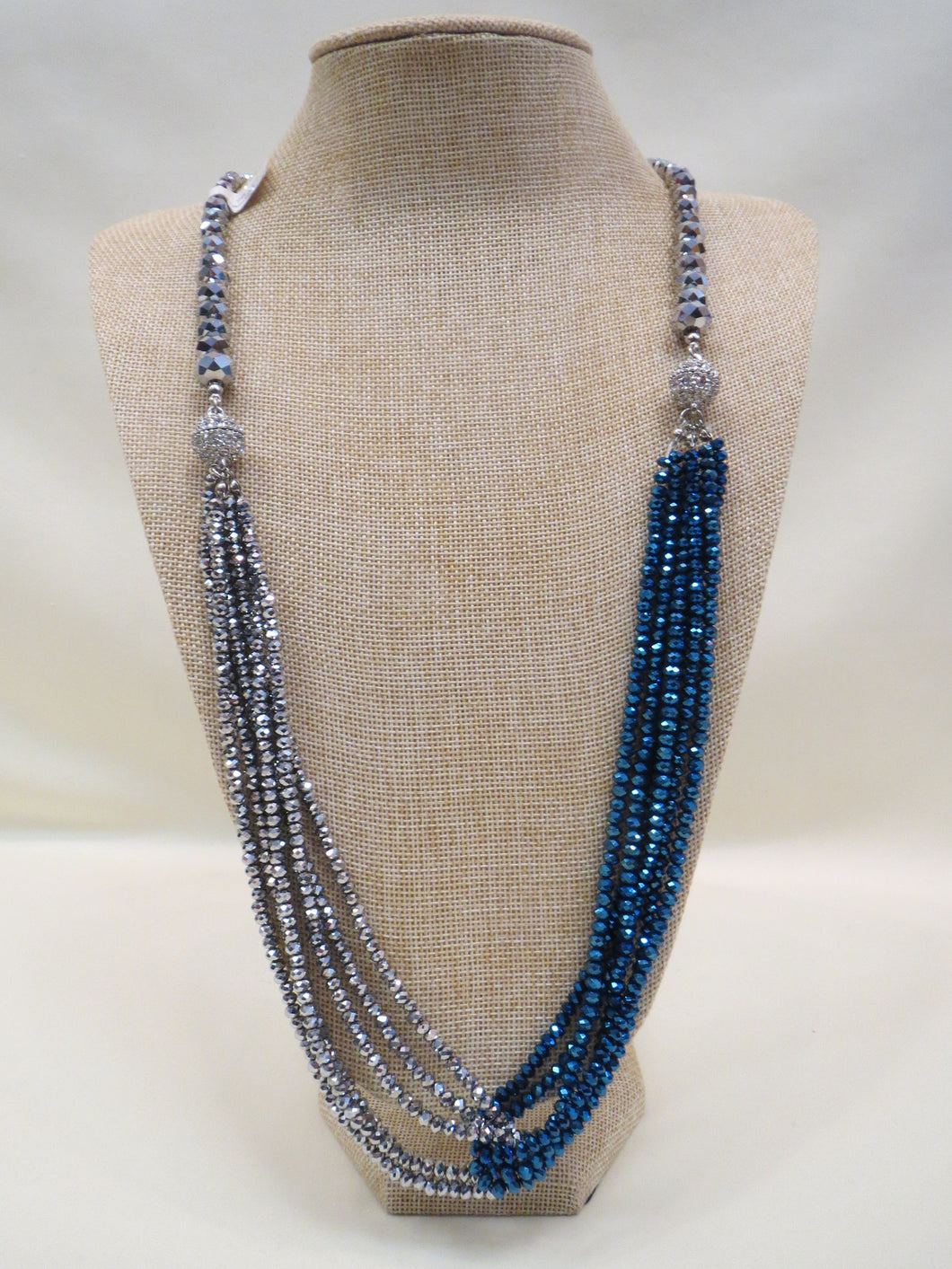 ADO | Silver & Blue Twist Necklace