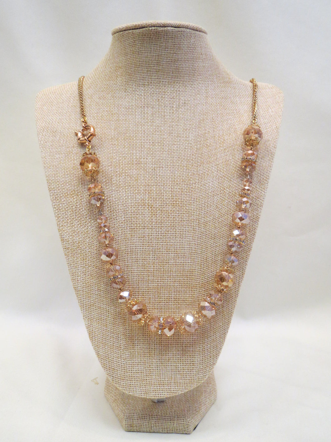ADO | Burnished Gold Beaded Necklace - All Decd Out