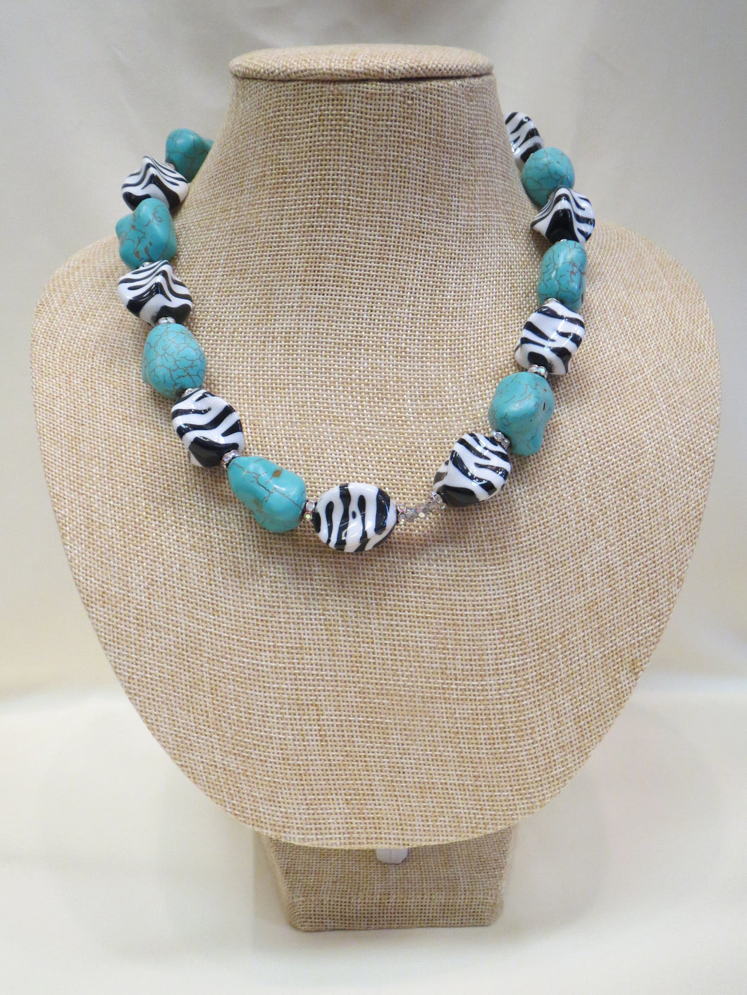 ADO Turquoise Zebra Necklace | All Dec'd Out