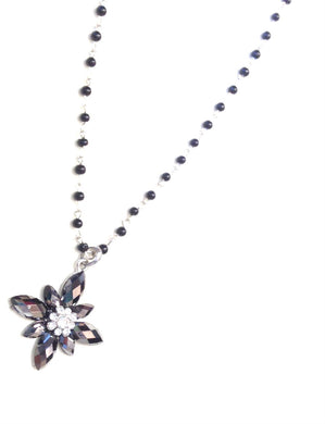ADO | Back & Silver Flower Necklaces - All Decd Out