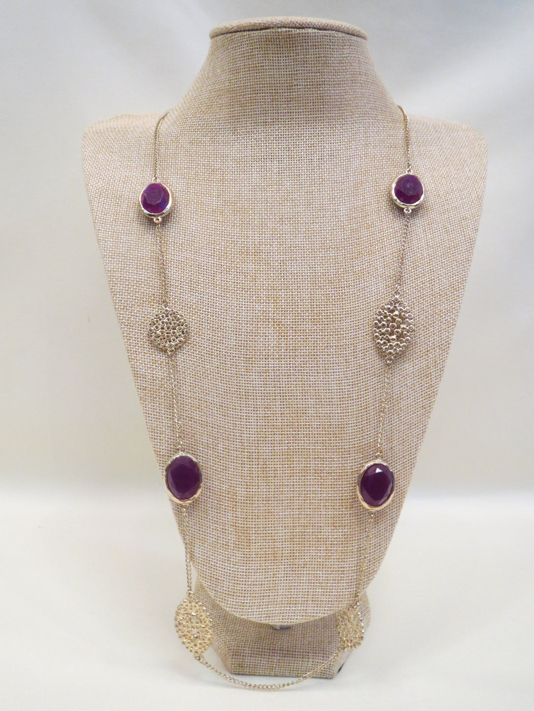 ADO | Purple & Gold Long Necklace - All Decd Out