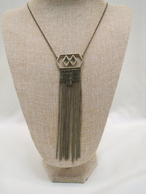 ADO | Aztec Gold Pendant Necklace Long - All Decd Out