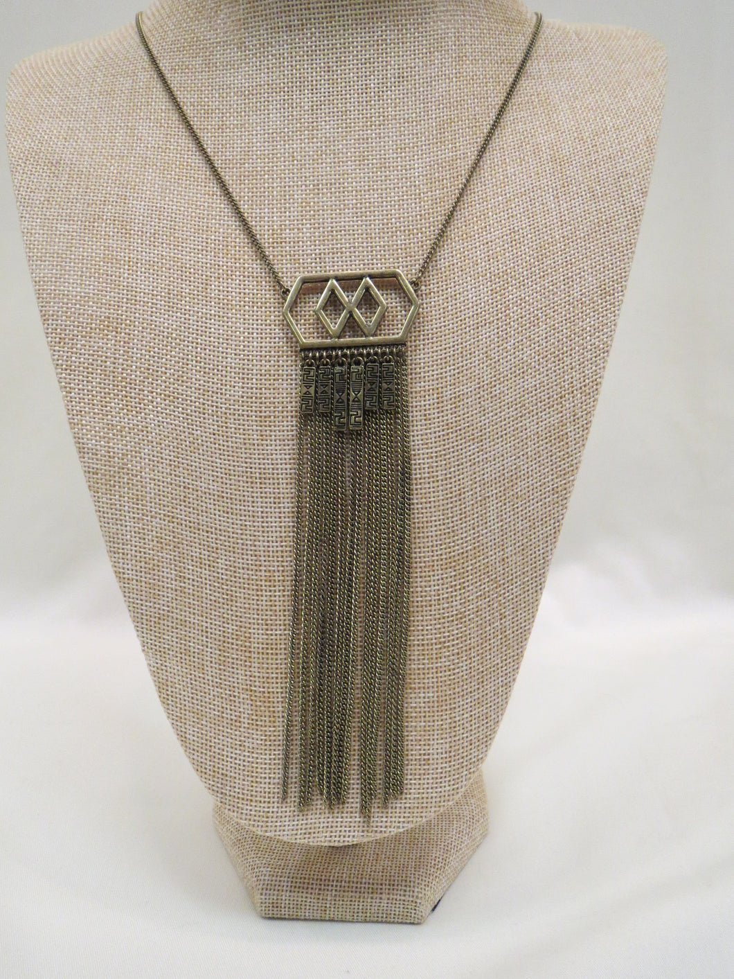 ADO Aztec Gold Pendant Necklace Long | All Dec'd Out