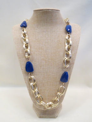 ADO | Blue Stone Gold Chain Necklace - All Decd Out