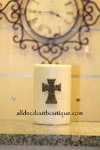 DECORATIVE CANDLE PIN EMBELLISHED Magma Crystals Medium Cross