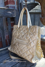 Luxcessories Inc. | Lock & Stud Purse Champagne