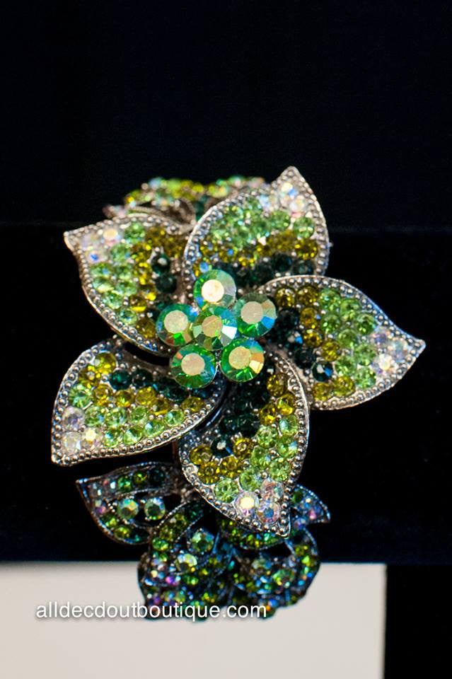 ADO | Lime Green Embellished Flower Bracelet