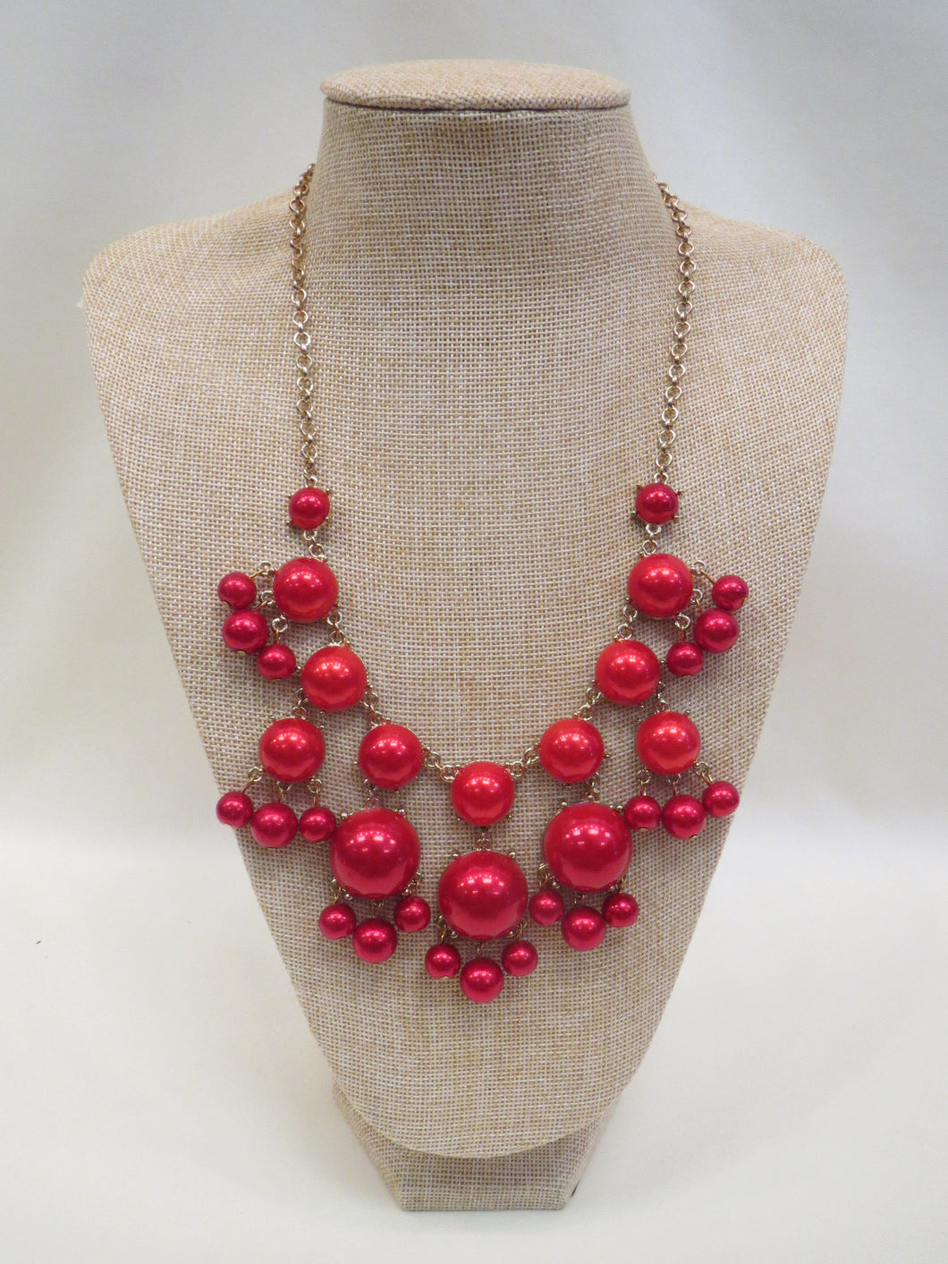 ADO | Bubble Necklace Red - All Decd Out