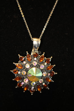 ADO | Embellished Starburst Pendant Brown - All Decd Out