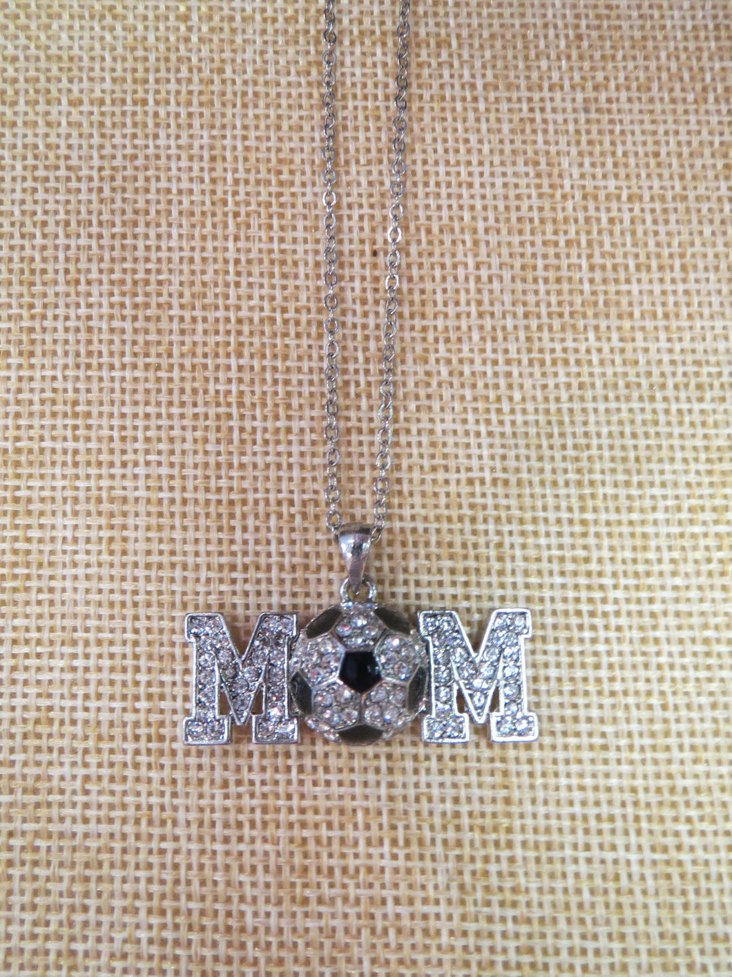 ADO | Hometown Pride Soccer Ball Mom Necklace - All Decd Out