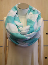ADO | Infinity Bright Mint Chevron Scarf - All Decd Out