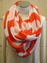 ADO | Infinity Orange Chevron Scarf