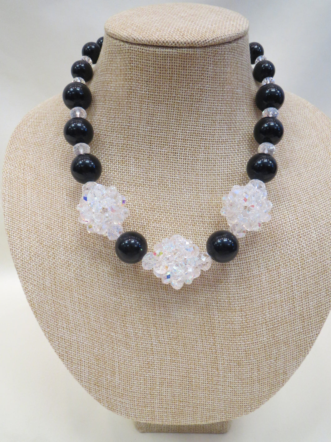 ADO | Black & Clear Ball Necklace - All Decd Out