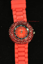 Red/Red, Red Rhinestones | Silicone Band - All Decd Out