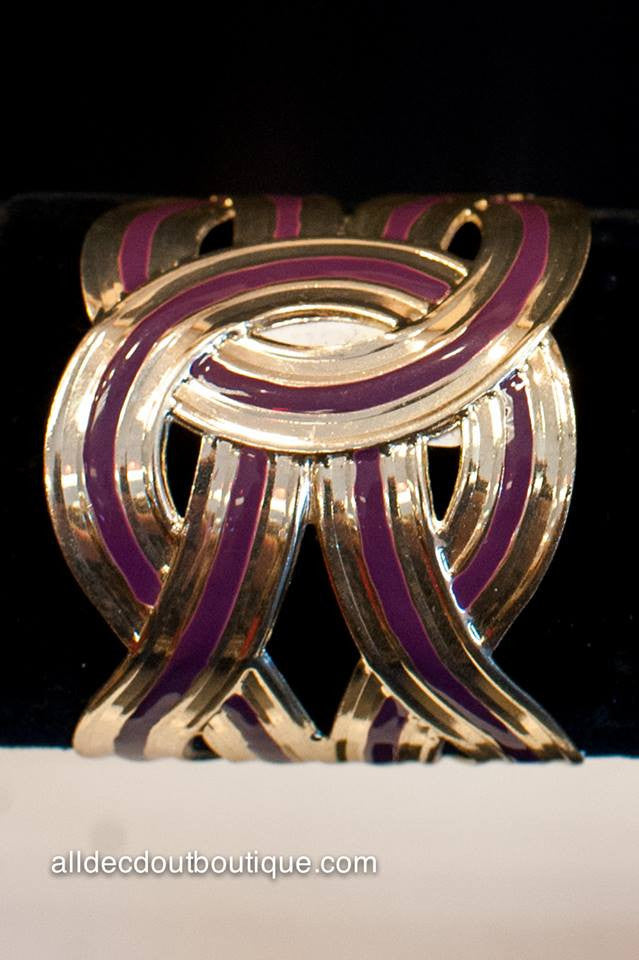 ADO | Gold and Purple Cuff Bracelet - All Decd Out
