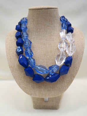 ADO | Blue & Clear Layer Necklace - All Decd Out