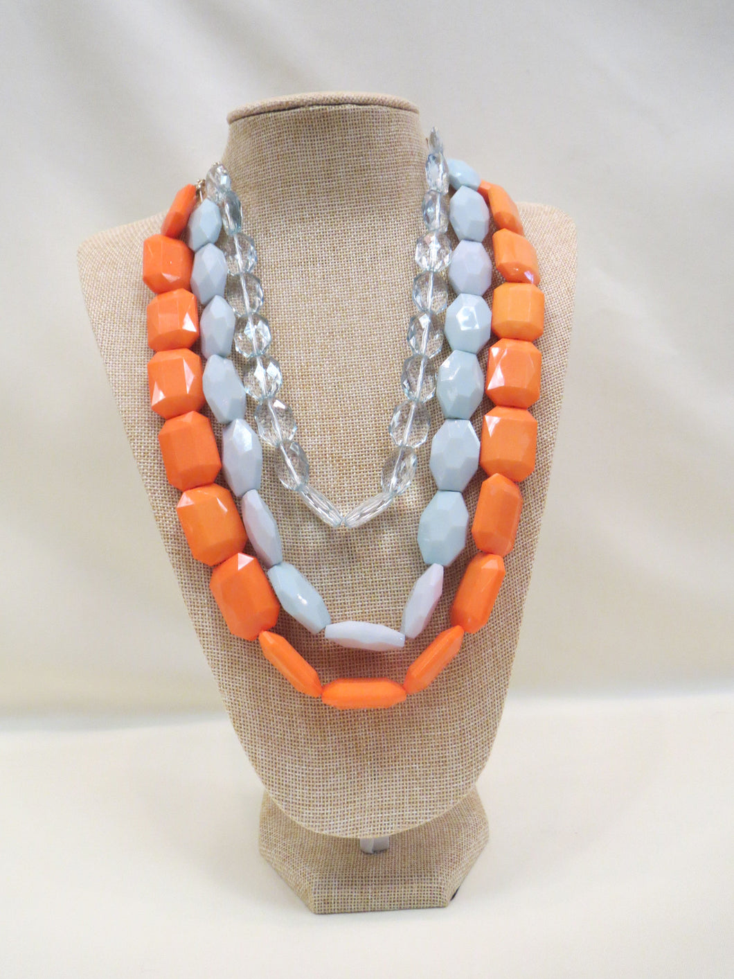 ADO | Mint & Orange Layer Necklace
