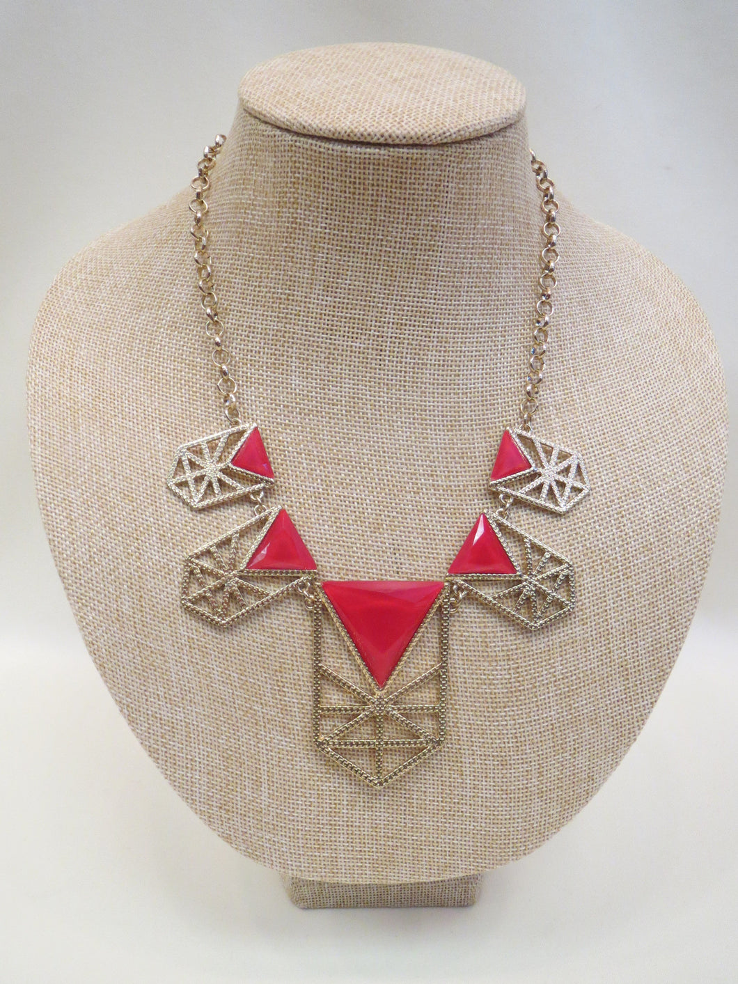 ADO | Red & Gold Tribal Necklace - All Decd Out