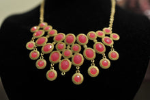 ADO | Pink & Gold Bib Necklace - All Decd Out