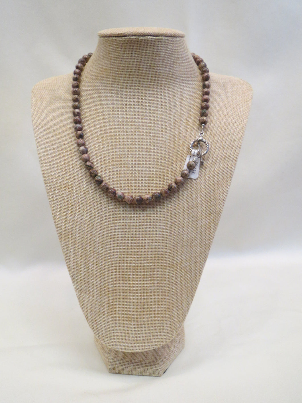 ADO | Stone Taupe & Green Beaded Necklace - All Decd Out
