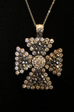 ADO | Embellished Cross Pendant Silver - All Decd Out