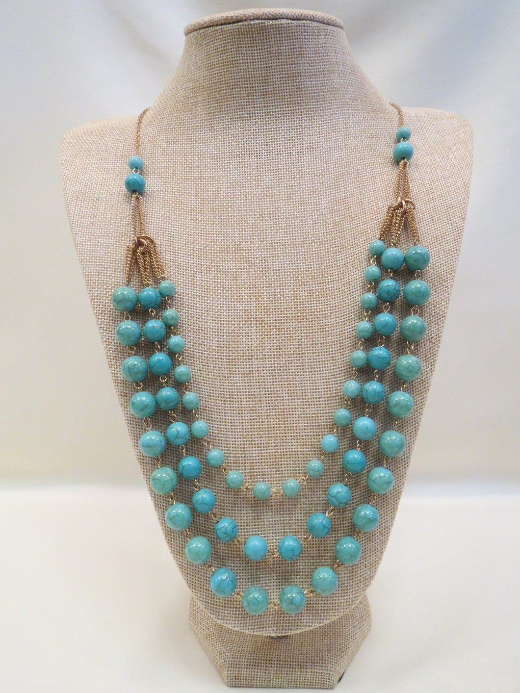 ADO Turquoise 3 Strand Necklace | All Dec'd Out