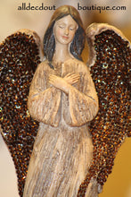 "Angel Embellished 18"" Smoked Topaz Crystals"