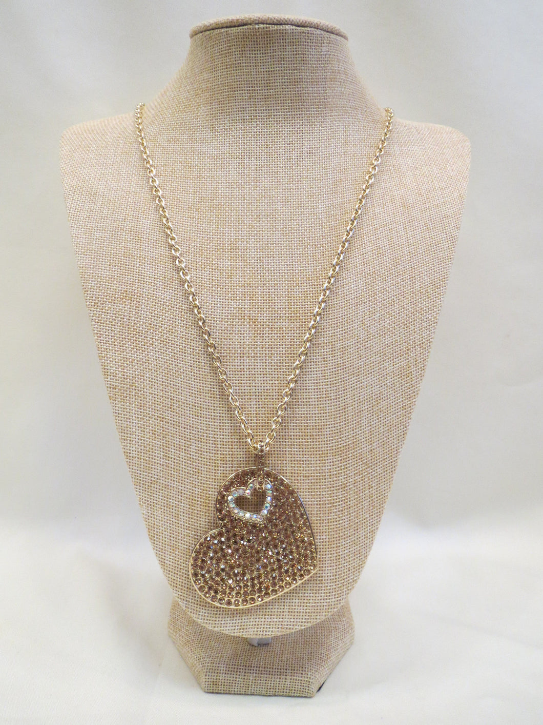 ADO | Crystal Heart Necklace Gold - All Decd Out