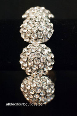 ADO | Embellished Crystal Circle Stretch Bracelet - All Decd Out