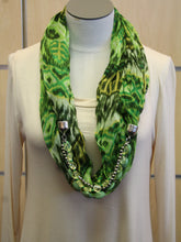ADO | Jewelry Infinity Scarf Green & Yellow