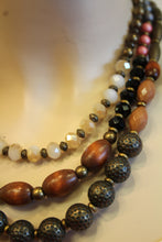 ADO | Wood Beaded 3 Strand Necklace