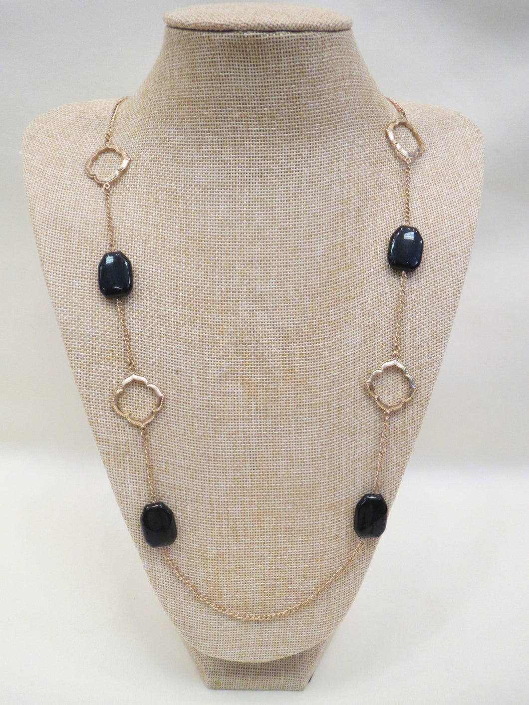 ADO | Black & Gold Long Necklace - All Decd Out