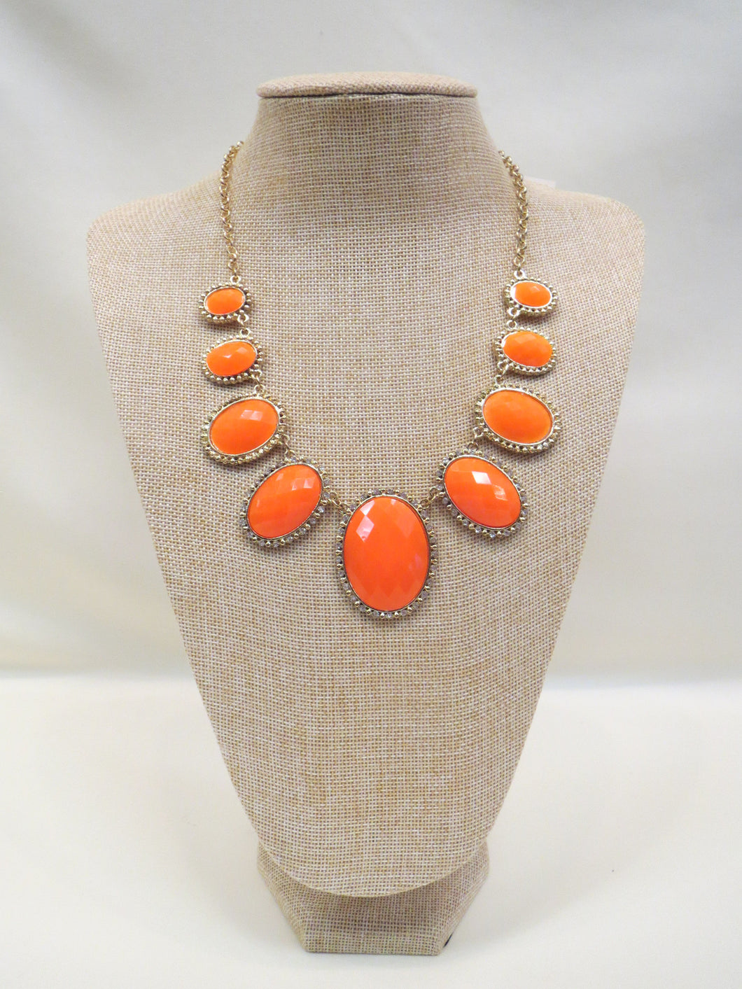 ADO | Orange Statement Necklace