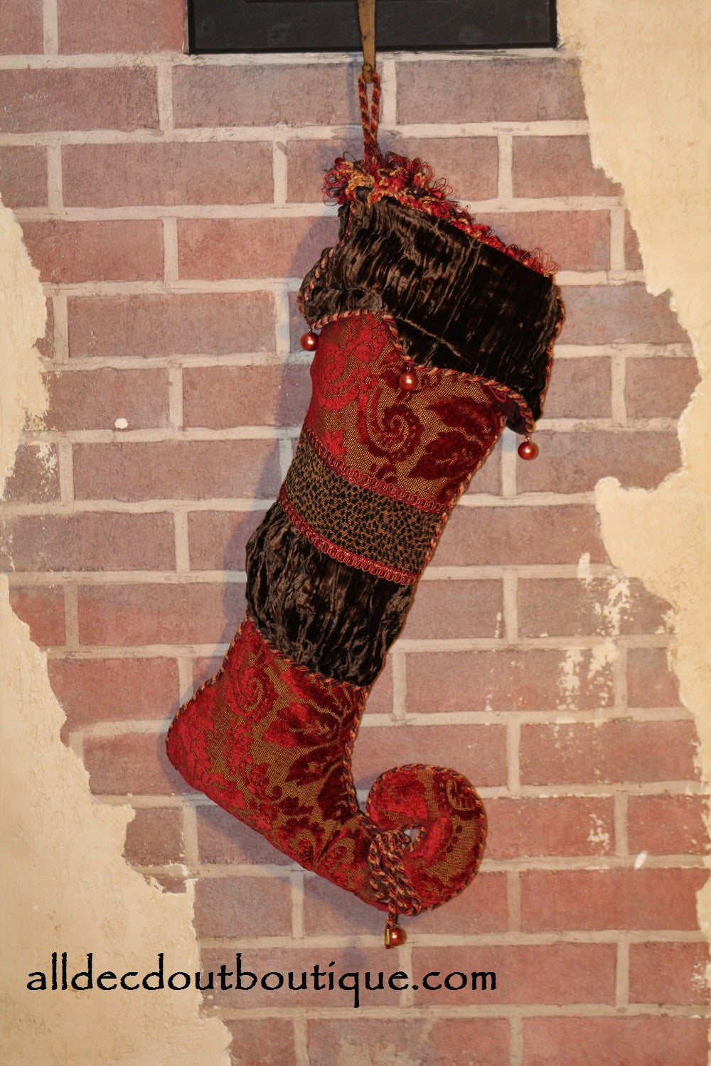 Holiday Season Stocking Poinsettia Holiday Design 25