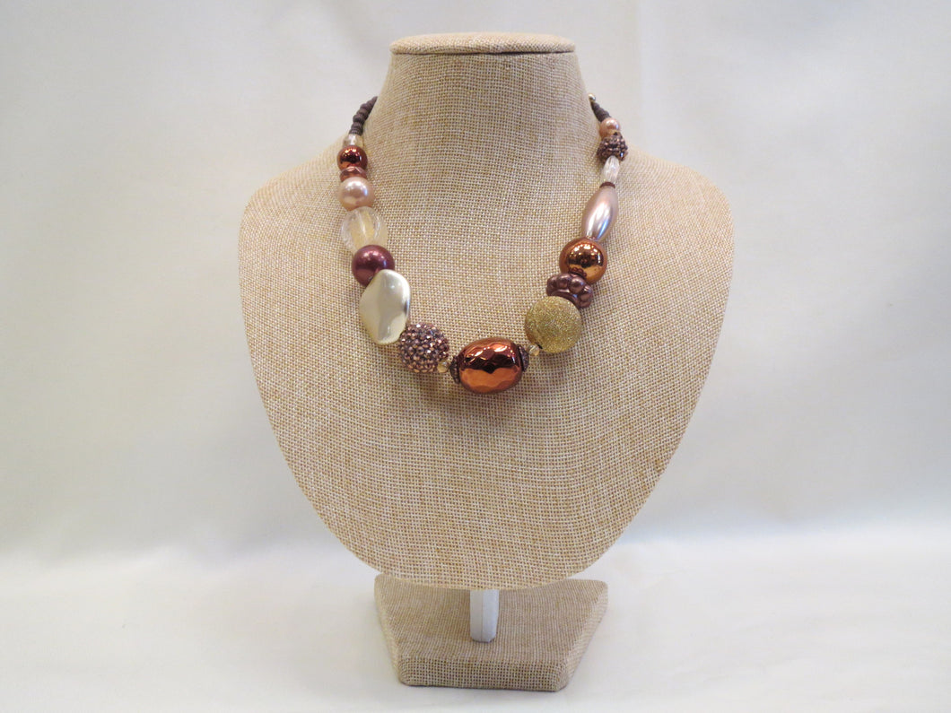 Treska Bronze Chunky Beaded Necklace Short | All Dec'd Out