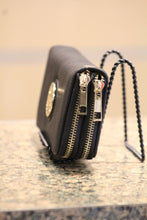 ADO | Black Zip Clutch Wallet with Wristlet - All Decd Out