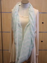 ADO | Infinity Light Mint and White Chevron Scarf