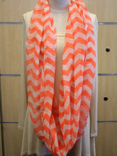 ADO | Infinity Neon Orange and White Chevron Scarf