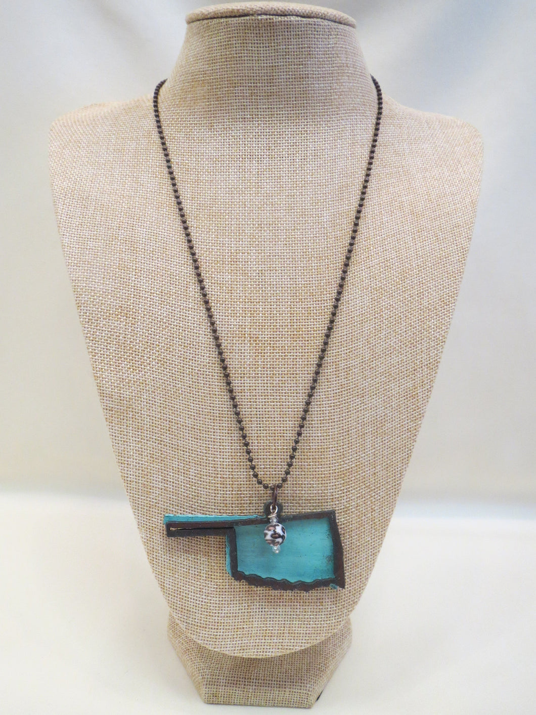 ADO | Hometown Pride Oklahoma Charm Necklace Turquoise - All Decd Out
