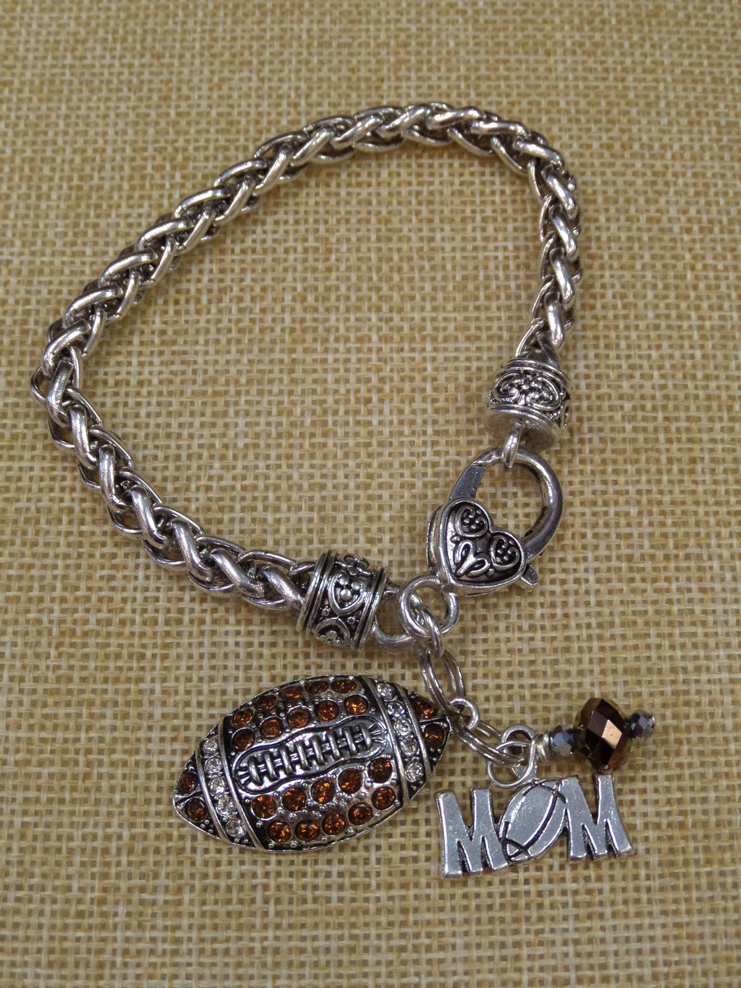 ADO | Hometown Pride Football Mom Bracelet - All Decd Out
