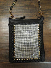 D'Orcia Stud Braid Bling Messenger Black & Gold Chain | All Decd Out