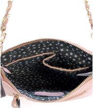 D'Orcia | Stud Braid Chain Bling Messenger Purse Black & Gold Chain - All Decd Out