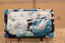 ADO | Flower Print Clutch Wallet Blue - All Decd Out