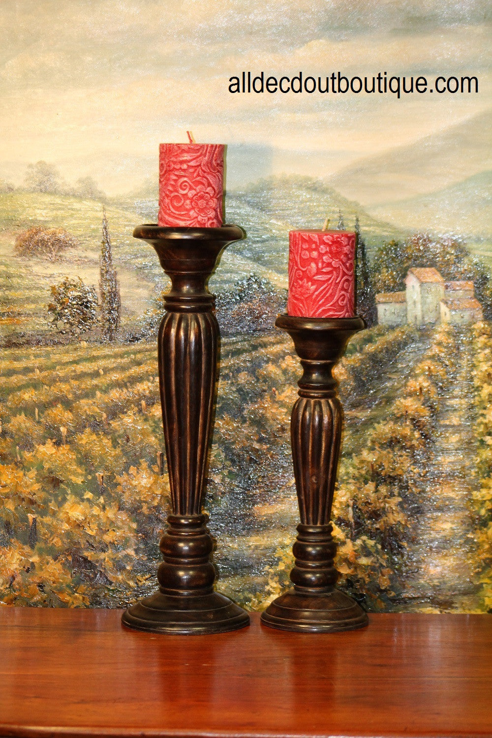 Pillar Candle Holder Fitz and Floyd