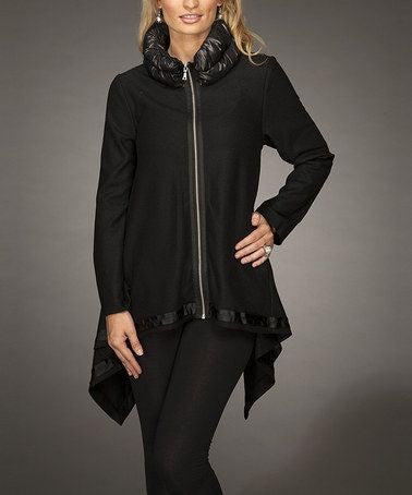 Firmiana | Zip Up Coat Black - All Decd Out