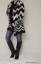 Elan | Chevron Sweater Cardigan - All Decd Out
