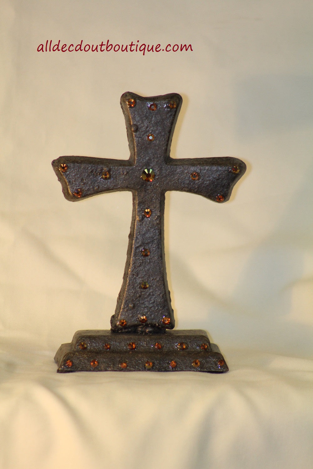 Table Decor | Metal Embellished Cross - All Decd Out