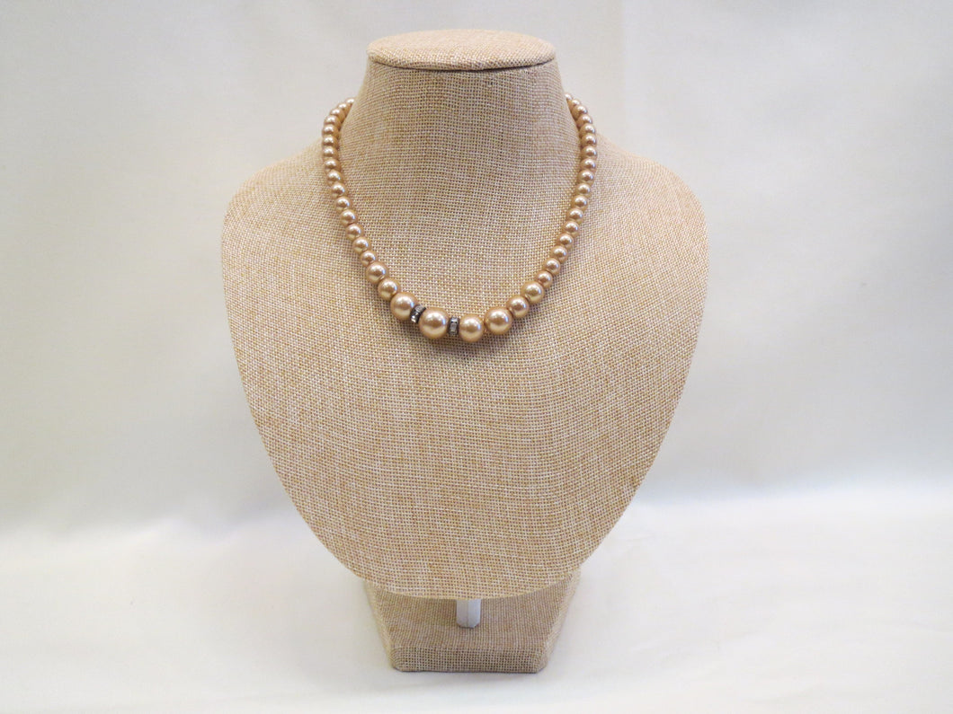 ADO | Gold Pearl Necklace - All Decd Out