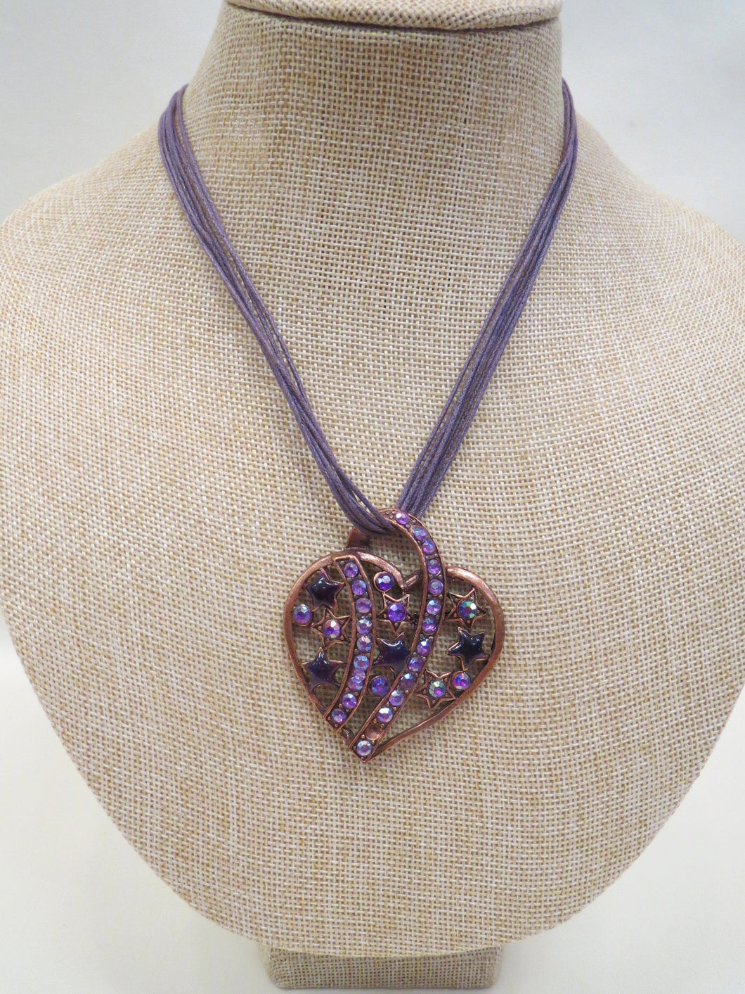 ADO Purple Heart on Cord Necklace | All Dec'd Out